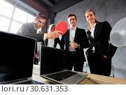 Купить «Business people play ping pong», фото № 30631353, снято 5 июня 2016 г. (c) easy Fotostock / Фотобанк Лори