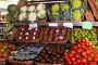 Купить «vegetables and fruits in wicker baskets on counter of greengrocery», фото № 30643681, снято 26 мая 2018 г. (c) Татьяна Яцевич / Фотобанк Лори