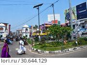 Купить «Индия, город Тривандрум (Тируванантапурам) - столица штата Керала», фото № 30644129, снято 12 марта 2019 г. (c) Овчинникова Ирина / Фотобанк Лори