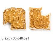 Peanut butter bread with bites. Стоковое фото, фотограф sumners / easy Fotostock / Фотобанк Лори