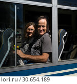 Купить «Couple sitting in the train, Ghum, Darjeeling Himalayan Railway, Darjeeling, West Bengal, India», фото № 30654189, снято 23 августа 2019 г. (c) Ingram Publishing / Фотобанк Лори