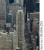 Купить «Skylines from above, Midtown Manhattan, New York City, New York State, USA», фото № 30654253, снято 8 декабря 2019 г. (c) Ingram Publishing / Фотобанк Лори