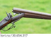 Купить «Damascus barrel Purdey side by side shotgun», фото № 30654317, снято 30 июля 2017 г. (c) Ingram Publishing / Фотобанк Лори