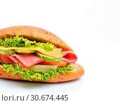 Купить «Cheese Ham Sandwich Shows Bread Roll And Cheeses», фото № 30674445, снято 14 января 2015 г. (c) easy Fotostock / Фотобанк Лори