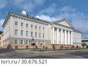 Купить «Главное здание университета в Тарту, Эстония», фото № 30676521, снято 24 июля 2016 г. (c) Михаил Марковский / Фотобанк Лори