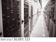 Купить «Empty server room», фото № 30681121, снято 16 июня 2019 г. (c) Wavebreak Media / Фотобанк Лори
