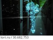 Купить «Composite image of digital image of key shape on circuit», фото № 30682753, снято 21 октября 2019 г. (c) Wavebreak Media / Фотобанк Лори