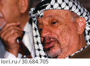 Купить «COLOMBIA Cartegena -- Oct 1995 -- Palestinian rebel leader Yasser Arafat at the 1995 Non Aligned Summit in Cartegena, Colombia -- Picture by Jonathan Mitchell | Lightroom Photos.», фото № 30684705, снято 26 июня 2019 г. (c) age Fotostock / Фотобанк Лори