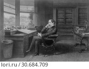 Купить «UK Broadstairs -- A portrait etching of the celebrated writer Charles Dickens in his study, probably in Kent England -- Picture by Lightroom Photos | US LoC.», фото № 30684709, снято 22 мая 2019 г. (c) age Fotostock / Фотобанк Лори