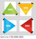 Купить «Triangular origami angle speech bubble. Infographic element. Origami dialogue banner for your message. Discount tag, badge, emblem. Web stickers. Template for catalog with space for text», иллюстрация № 30686069 (c) Dmitry Domashenko / Фотобанк Лори