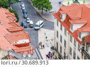 Купить «Fragment of fountain on Rossio square in Lisbon, Portugal», фото № 30689913, снято 15 июля 2018 г. (c) Николай Коржов / Фотобанк Лори