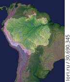Купить «EARTH Amazon Basin -- 2000 -- Geographers long agreed that, while the Amazon might be the worldÕs largest river by volume, the longest was likely the Nile...», фото № 30690345, снято 7 декабря 2019 г. (c) age Fotostock / Фотобанк Лори