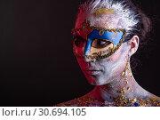 Купить «Creative podium makeup in Venetian lady style», фото № 30694105, снято 1 апреля 2019 г. (c) Sergii Zarev / Фотобанк Лори