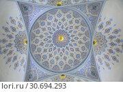 Купить «Interior of mausoleum Sheikh Shamsiddin Kulol at Dorut Tilavat Complex, Shakhrisabz, Uzbekistan», фото № 30694293, снято 16 октября 2016 г. (c) Юлия Бабкина / Фотобанк Лори