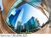 Skyscrapers at La Defense district, Paris, France. Стоковое фото, фотограф Сергей Новиков / Фотобанк Лори