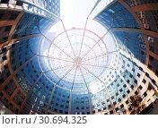 Circular building at La Defense district in Paris. Стоковое фото, фотограф Сергей Новиков / Фотобанк Лори