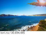 Panoramic view of San Francisco bay area, USA (2015 год). Стоковое фото, фотограф Сергей Новиков / Фотобанк Лори