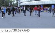 Купить «Fans before the football match», видеоролик № 30697645, снято 14 июня 2018 г. (c) Потийко Сергей / Фотобанк Лори