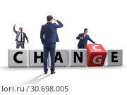Купить «Businessman in change and chance concept», фото № 30698005, снято 13 декабря 2019 г. (c) Elnur / Фотобанк Лори