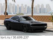 Купить «Dodge Challenger», фото № 30699237, снято 17 ноября 2018 г. (c) Art Konovalov / Фотобанк Лори