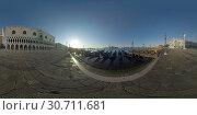 360 VR Riva degli Schiavoni waterfront, scene in early morning in Venice, Italy. Стоковое фото, фотограф Данил Руденко / Фотобанк Лори
