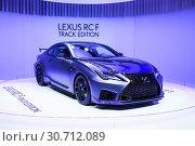 Купить «Lexus RC F Track Edition», фото № 30712089, снято 10 марта 2019 г. (c) Art Konovalov / Фотобанк Лори