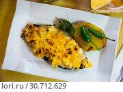 Купить «Eggplant stuffed with meat and bechamel», фото № 30712629, снято 26 мая 2019 г. (c) Яков Филимонов / Фотобанк Лори