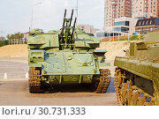 Купить «The antiaircraft Shilka self-propelled emplacement on the embankment to Volgograd», фото № 30731333, снято 27 апреля 2019 г. (c) Владимир Арсентьев / Фотобанк Лори