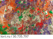 Купить «Abstract colored grunge texture. Colorful painting background. Natural luxury. Copy space.», иллюстрация № 30735797 (c) bashta / Фотобанк Лори