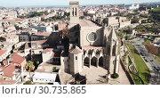 Купить «Collegiate Basilica of Santa Maria in Manresa, Spain», видеоролик № 30735865, снято 9 декабря 2018 г. (c) Яков Филимонов / Фотобанк Лори