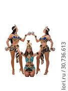 Купить «Sexy girls in egyptian costumes isolated shot», фото № 30736613, снято 28 апреля 2019 г. (c) Гурьянов Андрей / Фотобанк Лори