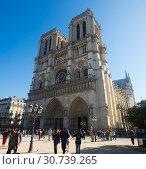 Купить «Notre-Dame Cathedral, Paris», фото № 30739265, снято 10 октября 2018 г. (c) Яков Филимонов / Фотобанк Лори