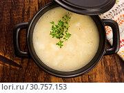 Купить «Fresh soup of white asparagus», фото № 30757153, снято 26 мая 2018 г. (c) easy Fotostock / Фотобанк Лори