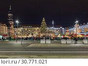 Купить «Штрицельмаркт в Дрездене, старейший рождественский базар Германии», фото № 30771021, снято 6 декабря 2017 г. (c) Михаил Марковский / Фотобанк Лори