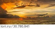 Вечернее небо над Индийским океаном. Sanmali Beach, Шри-Ланка (2019 год). Стоковое фото, фотограф Владимир Сергеев / Фотобанк Лори