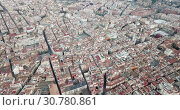 Купить «Aerial view of the spanish city of Reus. Tarragona province. Catalonia. Spain», видеоролик № 30780861, снято 17 января 2019 г. (c) Яков Филимонов / Фотобанк Лори