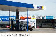 Petrol station in Asuncion, Paraguay (2017 год). Редакционное фото, фотограф Яков Филимонов / Фотобанк Лори
