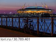 """Купить «Стадион """"Газпром Арена"""". Санкт-Петербург.», фото № 30789401, снято 12 мая 2019 г. (c) Роман Рожков / Фотобанк Лори"""