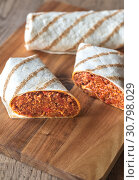 Купить «Burritos stuffed with ground beef», фото № 30798029, снято 11 июля 2018 г. (c) easy Fotostock / Фотобанк Лори