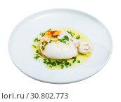 Купить «Dish of Mediterranean cuisine – roasted cuttlefish», фото № 30802773, снято 15 июля 2019 г. (c) Яков Филимонов / Фотобанк Лори
