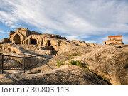 Купить «Uplistsikhe ancient cave city», фото № 30803113, снято 30 сентября 2018 г. (c) Юлия Бабкина / Фотобанк Лори
