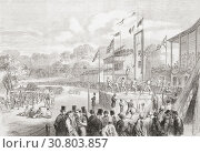 Купить «The annual Manchester Athletic Festival held on the Manchester Racecourse, 1865. From The Illustrated London News, published 1865.», фото № 30803857, снято 21 марта 2019 г. (c) age Fotostock / Фотобанк Лори