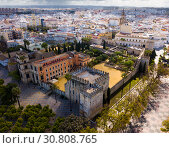 Купить «View of Alcazar of Jerez de la Frontera», фото № 30808765, снято 19 апреля 2019 г. (c) Яков Филимонов / Фотобанк Лори
