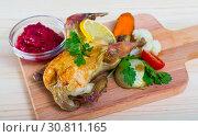 Купить «Poultry dish baked in oven», фото № 30811165, снято 21 июля 2019 г. (c) Яков Филимонов / Фотобанк Лори