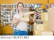 Купить «boxes for packing souvenir», фото № 30811461, снято 19 апреля 2017 г. (c) Яков Филимонов / Фотобанк Лори