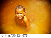 Купить «Children Swiming in River, Bom Jesus Community, Negro River, Novo Airão, Amazonas, Brazil», фото № 30824673, снято 6 октября 2008 г. (c) age Fotostock / Фотобанк Лори