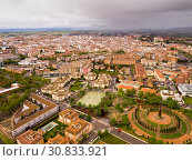 Roofs of town in La Mancha region. Ciudad Real. Spain (2019 год). Стоковое фото, фотограф Яков Филимонов / Фотобанк Лори