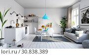 modern living interior design. Стоковое фото, фотограф Виктор Застольский / Фотобанк Лори