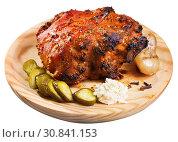 Купить «Pork knuckle braised in beer», фото № 30841153, снято 21 ноября 2019 г. (c) Яков Филимонов / Фотобанк Лори