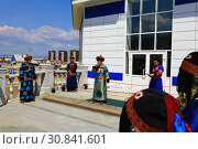 Купить «Открытие храма шаманов в городе Улан-Удэ. Храм «Тэнгэриин Ордон» («Дворец Неба»)», фото № 30841601, снято 26 мая 2019 г. (c) Валерий Митяшов / Фотобанк Лори